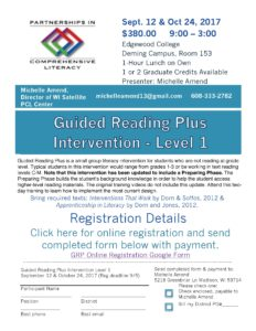 Guided Reading Plus Level I flyer 2017-18