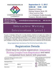 Interactive Writing Level I flyer 2017-18 (1)