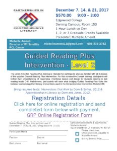 Level 2 Guided Reading Plus flyer 2017-18